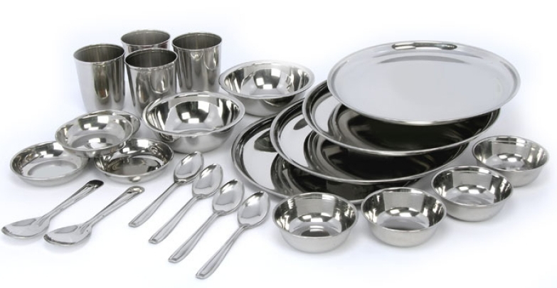 Stainless Steel Dinner Set Kitchen Wear All Time Best Quality Item